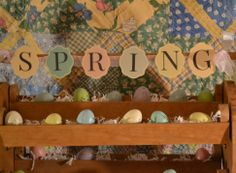 Easter Eggs and Spring Banner - Craft Dictator