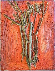Bas-relief plâtre - Les arbres - Maternelle Renan b Villeurbanne - 2012
