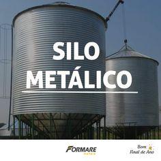 Produtor Rural, sabia que é possível fazer um Silo Metálico com telhas Formare Metais? Os Silos são ótimas opções para armazenamento de materias e produtos  #FormareMetais #Rural #Obras #Silo #Armazenamento #Grãos #Fechamento #Aço #Metal #Plantação #Brasil