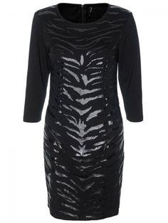 Γυναικείο φόρεμα με animal print. Χρώμα: Μαύρο. Bodycon Dress, Formal Dresses, Fashion, Formal Gowns, Moda, Body Con, Fashion Styles, Formal Dress, Gowns
