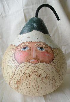 Santa+Gourd+Art | Santa Gourd