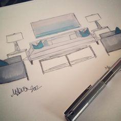 Meredith Heron Design  #Unionville Concept Sketches