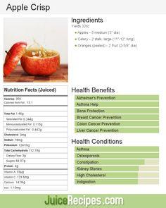 Apple Crisp | Juice Recipes