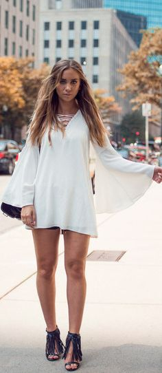 Lace Up Front Dress / Fashion By Lisa Olsson