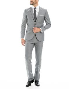 French blue three piece suits google search suits - Costume gris homme ...