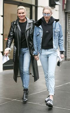 Yolanda Hadid & Gigi Hadid from The Big Picture: Today's Hot Photos  Mother daughter duo! The pair rocks black and denim outfits while around town in New York City.
