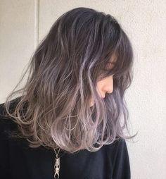 Shot Hair Styles, Curly Hair Styles, Korean Hair Color, Japanese Hair Color, Hidden Hair Color, Hair Color Streaks, Dip Dye Hair, Japanese Hairstyle, Haircut And Color