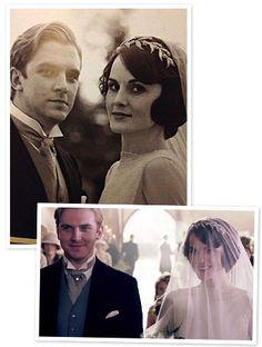 Downton Abbey wedding- Mary and Matthew