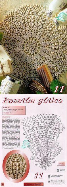 Beautiful crochet doily pattern.