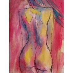 Peinture sur toile contemporaine Femme nue vue de dos Woman Painting, Art Reproductions, Watercolor Tattoo, Outfit Of The Day, Art Drawings, Geek Stuff, Deco, Creative, Silhouettes