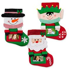 3 Pack Classic Christmas Stockings with Picture Frame Personalize it with your picture -- You can find out more details at the link of the image.
