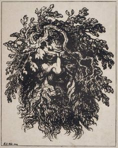 Head of a Bearded Man Wreathed with Oak Branches 1802 Raphael Lamar West,