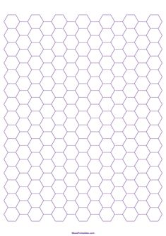 Printable 1 Cm Purple Hexagon Graph Paper for Paper Printable Shapes, Templates Printable Free, Hexagon Pattern, Hexagon Shape, Graph Paper Art, A4 Paper, Peyote Stitch Tutorial, Muster Tattoos, Jewelry Making Classes