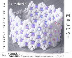 Bracelet Tutorial with Super Duo beads: Astral Beaded Bracelet - DIGITAL DOWNLOAD PDF on Etsy, $6.50
