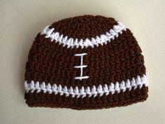 Football Hat from StayHomeCupcake