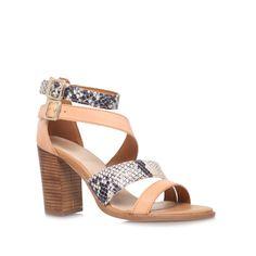 kissy, tan shoe by carvela kurt geiger - women shoes sandals mid heels