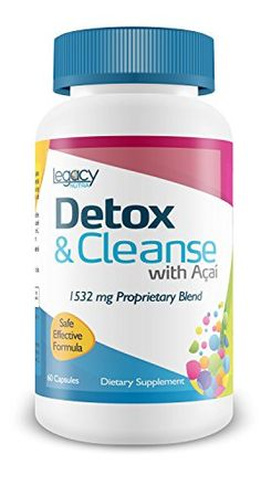 LEGACY DETOX CLEANSE BEST COLON CLEANSE with Acai Berry for Rapid Detox and Digestive System Cleansing to Support Body Detox