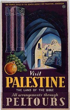 Visit Palestine - PELTOURS | The Palestine Poster Project Archives