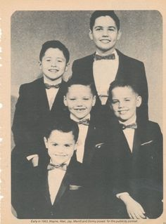 Osmond Brothers....this was their ages when they were on The Andy Williams Show...always loved that show!!!!