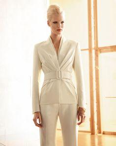 ladies wedding white pant suit - Google Search