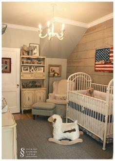 Room Tour: A Vintage Americana Nursery