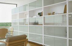 Modular bookcase / contemporary / glass-front - SAPPORO by Jesús Gasca - STUA