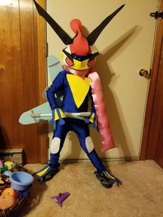 homemade greninja costume