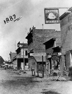 West Center Street, Anaheim California, 1887.  Disneyland is near there today.