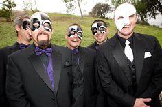 Masquerade wedding groom and groomsmen - creepy