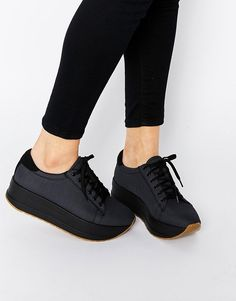 Image 1 of Vagabond Casey Dark Gray Flatform Sneakers Vagabond Sneakers c59bff4824