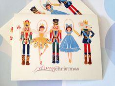 Christmas Card Holiday Cards Nutcracker Set of 10 от PikakePress