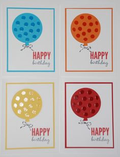 Happy Birthday Balloons - Celebrate Today - Whisper White, Tempting Turquoise, Only Orange, Daffodil Delight, Real Red