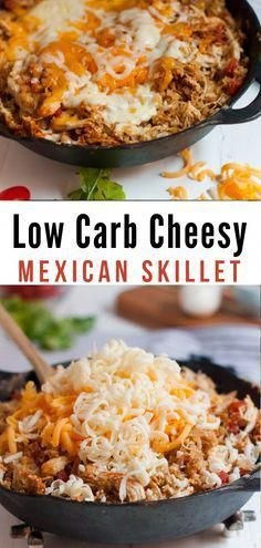 Make our Keto Cheesy Mexican Skillet Chicken as a great family-friendly low carb. Make our Keto Ch Healthy Low Carb Recipes, Low Carb Keto, Diet Recipes, Cooking Recipes, Dessert Recipes, Healthy Weight, Crockpot Low Carb Meals, Recipes Dinner, Best Low Carb Meals