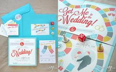 Board Game wedding invites by one little m
