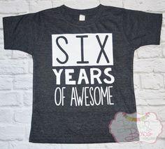 Years of Awesome Birthday Shirt // Boy or Girl Birthday T-Shirt - Made To Order by BeausAndBowsBoutique on Etsy - black oxford button down shirt, long sleeve shirts, shirt creator *sponsored https://www.pinterest.com/shirts_shirt/ https://www.pinterest.com/explore/shirt/ https://www.pinterest.com/shirts_shirt/design-shirts/ http://store.twentyonepilots.com/apparel/t-shirts.html
