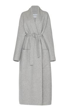 Loewe Grey MÉlange Cashmere Coat In Gray Pink Fashion, Womens Fashion, Fashion Boots, British Fashion Awards, Fall Fashion Trends, Fall Trends, Loewe, Coat Dress, Boho