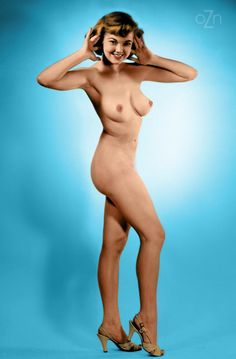 Judy O'Day nude in the studio.