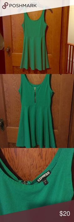 Cotton fit and flare dress Sea foam green Express sundress with zipper on back. Size S Express Dresses Mini
