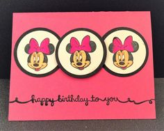 minnie birthday card by ladycaid - Cards and Paper Crafts at Splitcoaststampers Minnie Birthday, 2nd Birthday Parties, Birthday Cards, Disney Cards, Minnie Mouse, Paper Crafts, Party, Bday Cards, Tissue Paper Crafts