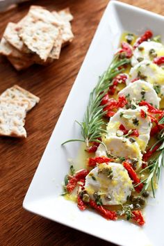Goat Cheese Marinated with Lemon & Herbs Ingredients 1 4-ounce log of ...