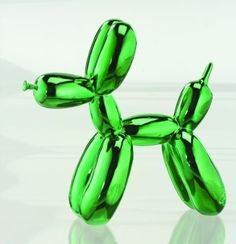 Balloon Dog Figurine Statue Home Decor - Green Metallic