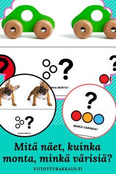 Mitä näet, kuinka monta, minkä värisiä? - Viitottu Rakkaus Preschool, Fictional Characters, Peda, Kid Garden, Kindergarten, Fantasy Characters, Preschools, Kindergarten Center Management