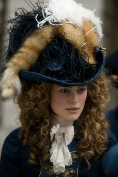 The Duchess' millinery masterpieces were created by an English theatre and film hatmaker Jane Smith, who together with costume designer Michael O'Connor and hair designer Jan Archibald worked seamlessly to bring one of the most influential figures in 18th century fashion to life.