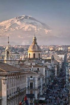 Catania, Sicily. and Mt. Etna volcano