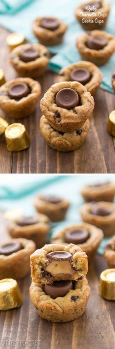 Rolo Chocoloate Chip Cookie Cups - perfect homemade cookies and melty Rolos!