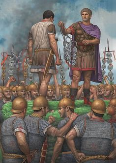 roman soldier being awarded medals  More @ FOSTERGINGER At Pinterest