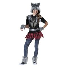 Girl's Wear Wolf Costume--- I want to wear this for Halloween!!