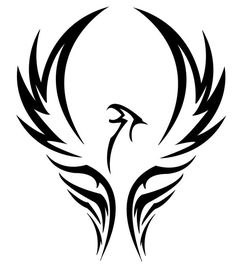 Phoenix are a tad cliche, but I really like the simple black/white curved wing. Curve of wing could be matched with to curve of breast?
