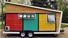 Toybox Tiny Home is a riot of color and mid-century modernism