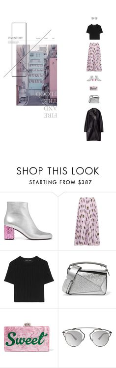 """""""fire and the flood - vance joy"""" by aimable ❤ liked on Polyvore featuring Yves Saint Laurent, Prada, Proenza Schouler, Loewe, Edie Parker, Lanvin and Christian Dior"""